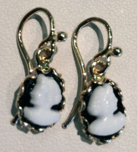 Yellow Gold Cameo Earrings