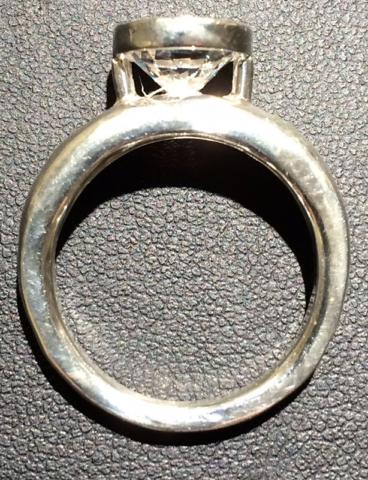 Solitary Diamond Bezel Ring (Side)