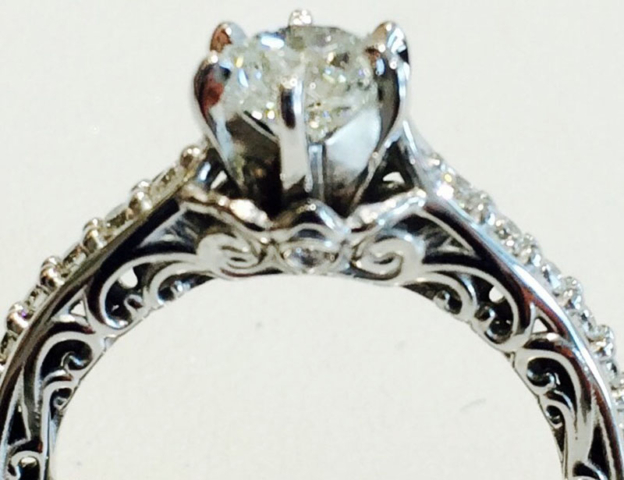 Old Fashioned Diamond Ring after