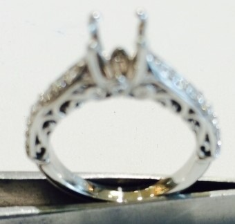 Old Fashioned Diamond Ring before
