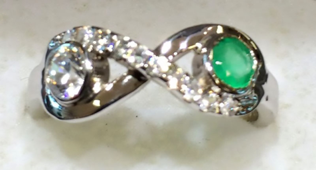 Infinity Ring with birthstones