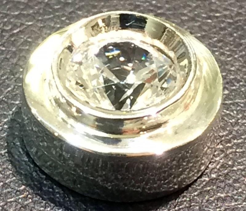 White Gold Sliding Diamond Pendant