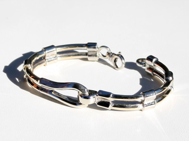 Men's 2 Tone Bracelet